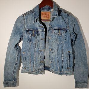 Levi's denim jacket cropped small